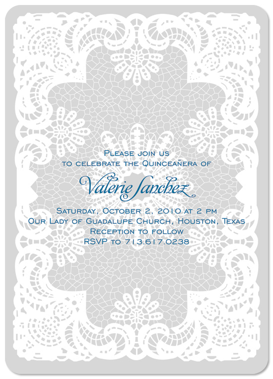 party invitations - White Lace by Yellow Door Studio