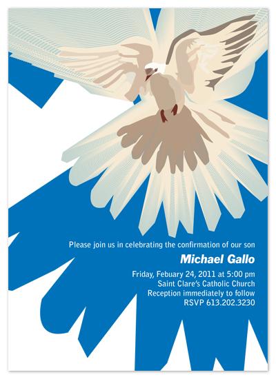 party invitations - Blue Dove by Yellow Door Studio