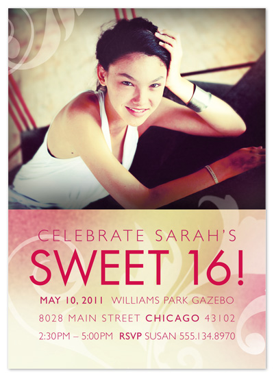 party invitations - Sweet Sixteen by Rebecca Wendt