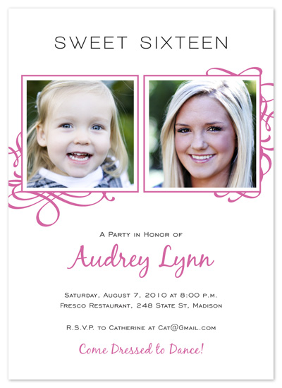 party invitations - Then And Now by Rachel Barnes