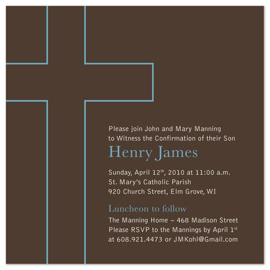 party invitations - Classic Cross Confirmation by Rachel Barnes