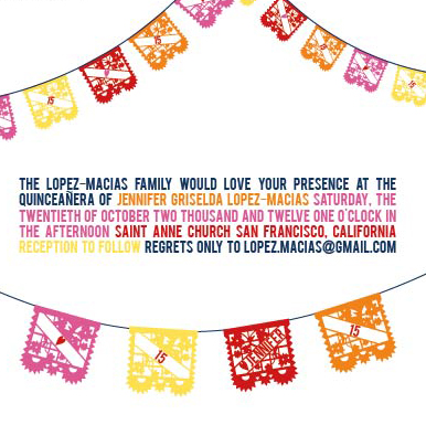 party invitations - papel picado by Foreignspell