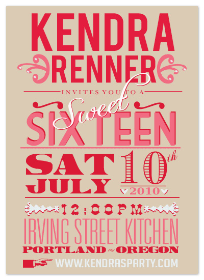 party invitations - Lovely Playbill by Epitome by Renner Design