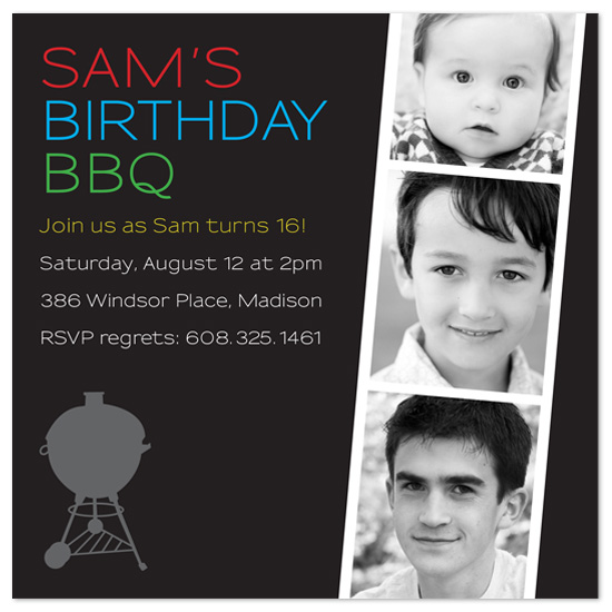 party invitations - Birthday BBQ by Rachel Barnes