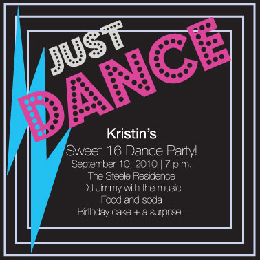 party invitations - Dance Party by Kayla Queen