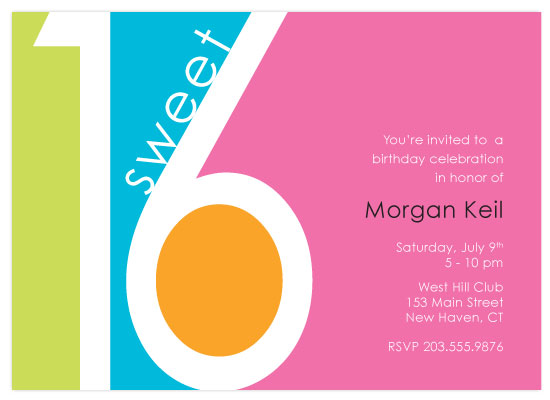 party invitations - Sweet 16 Sorbet by Michelle Viesselman