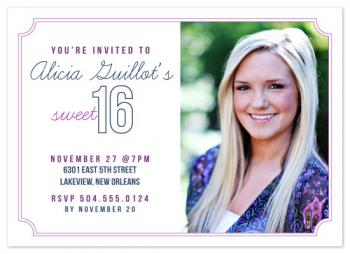 Sweet Pink and Blue Invite