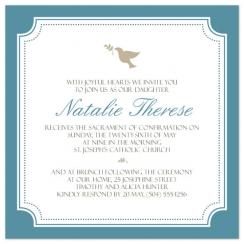 Simple Dove Confirmation Invite