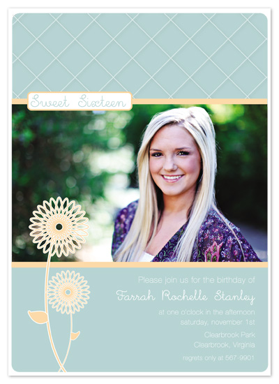 party invitations - Flowered Birthday by Bethany Anderson