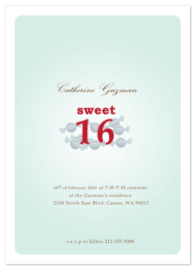 party invitations - sweet candy sixteen by Sheila Sunaryo