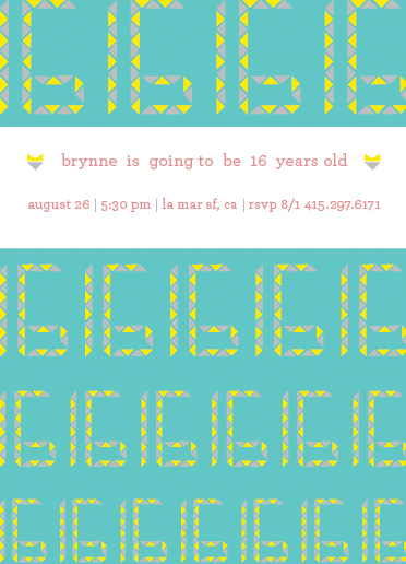 party invitations - Brynne! by Foreignspell