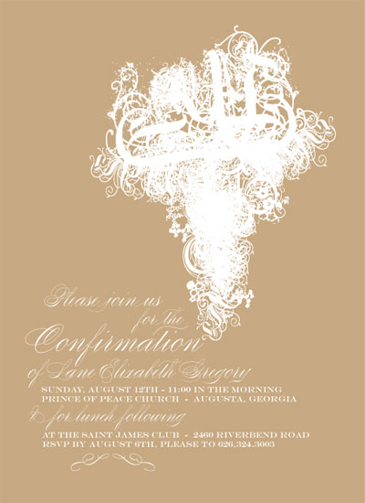 party invitations - Ornate Cross by Laura Buchanan
