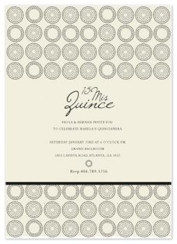 Midnight Circles Quinciañera Invitiation