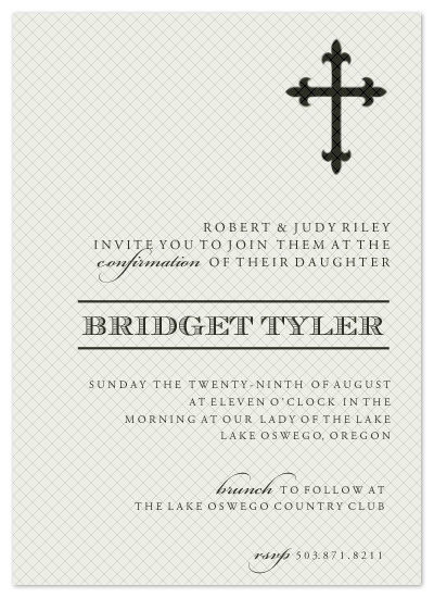 party invitations - Modern+Cross by Epitome by Renner Design