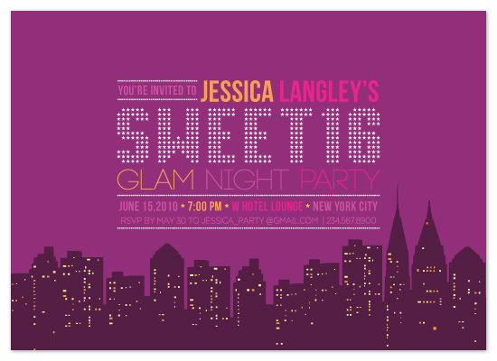 party invitations - Glam Night in the City by Coco and Ellie Design