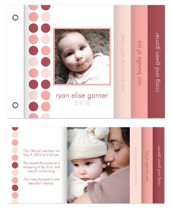 minibook cards - dotted baby by Katie Leggitt