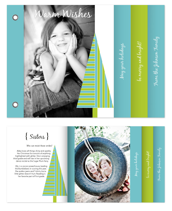 minibook cards - Striped Tree by Gott Graphics Design
