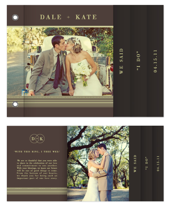 minibook cards - 'I Do' Wedding Minibook by Julien Floyd