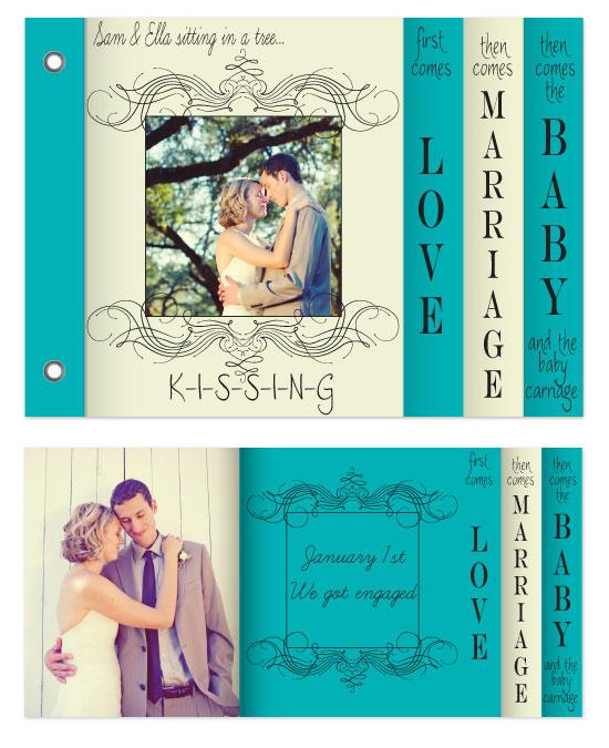 minibook cards - K-I-S-S-I-N-G by Sadie Visser Designs
