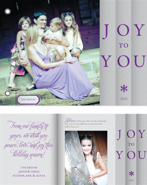 minibook cards - Joy to You Holiday Minibook Card by William Reid Stationery