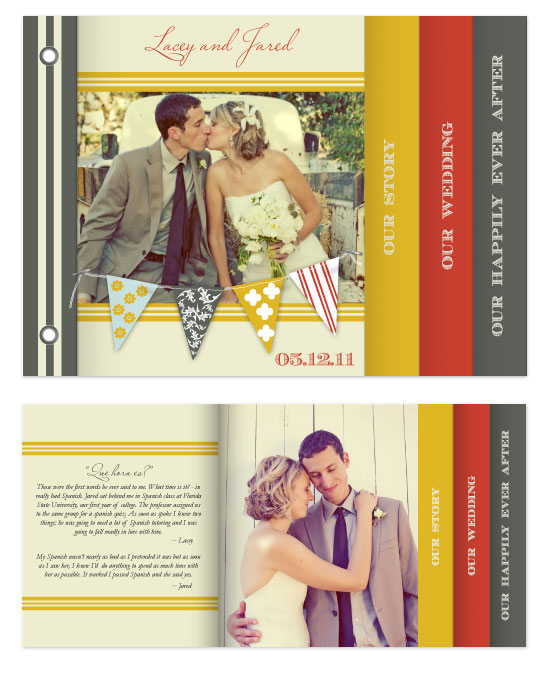 minibook cards - A Love Story by That Girl Press