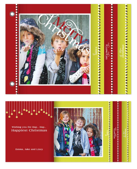 minibook cards - Hap..Hap.. Happy Christmas by Moe and Me