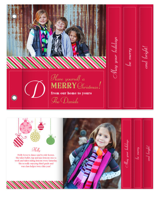 minibook cards - Berry Brights by That Girl Press