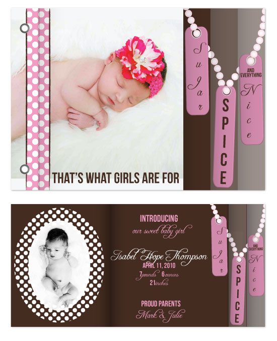 minibook cards - Sugar & Spice by Sadie Visser Designs