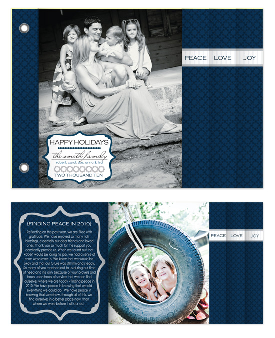 minibook cards - Classic Navy Holiday by Heidi Stock Design