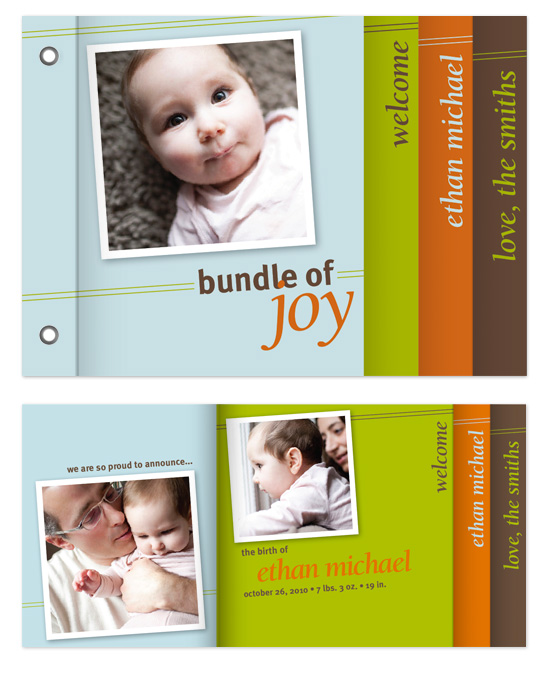 minibook cards - Bold Bundle of Joy by Natalie Navales