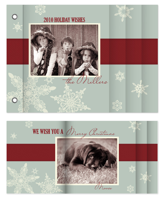 minibook cards - Snowflake Vintage by Noah and Olivia