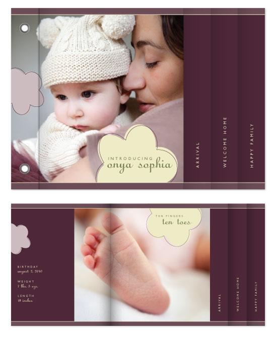 minibook cards - Flower Baby by Molly Brekke