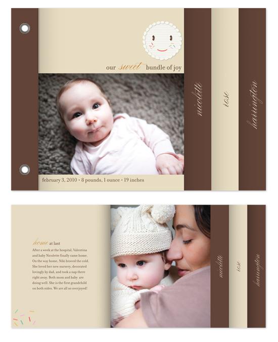 minibook cards - sprinkles by nocciola design