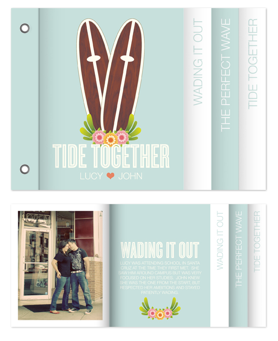 minibook cards - tide together by Waui Design