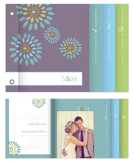 minibook cards - Heather Grey-Purple Modern Charismatic  by emily elizabeth stationery