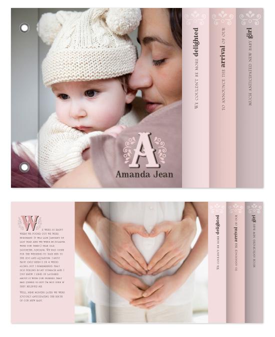 minibook cards - Charming Monogram by Ann Gardner