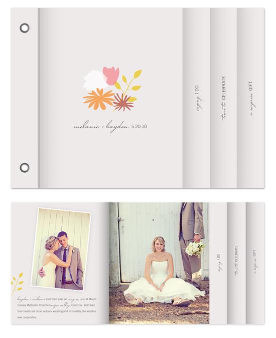 minibook cards - joyful bouquet by nocciola design