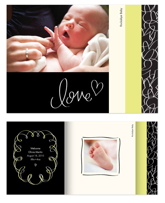 minibook cards - Rockabye Baby by Kimberly Schwede