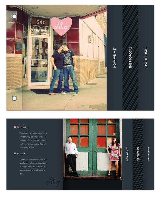 minibook cards - mod heart by nocciola design