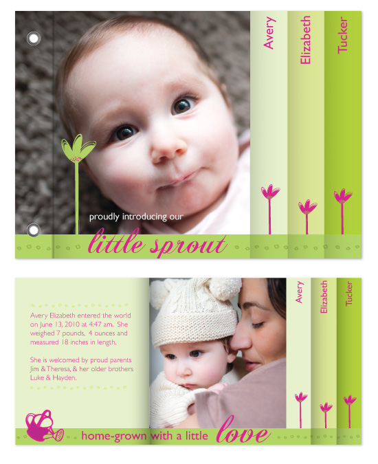 minibook cards - Little Sprout by Rachel V.