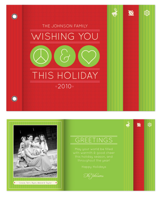 minibook cards - Peace and Love by Carrie