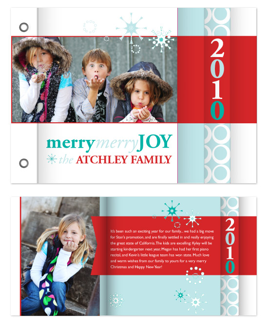 minibook cards - Merry Snowflakes by Tenley Reyno