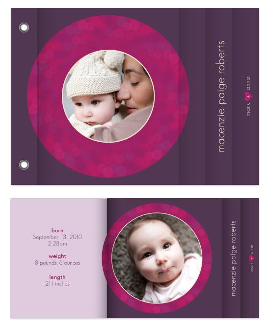 minibook cards - Bold Circles by Ann Gardner