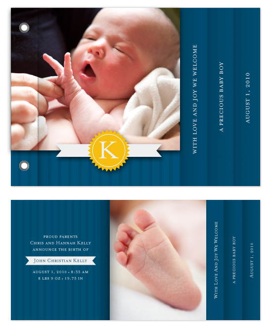 minibook cards - Baby Boy Blue by Lauren Sanders Design