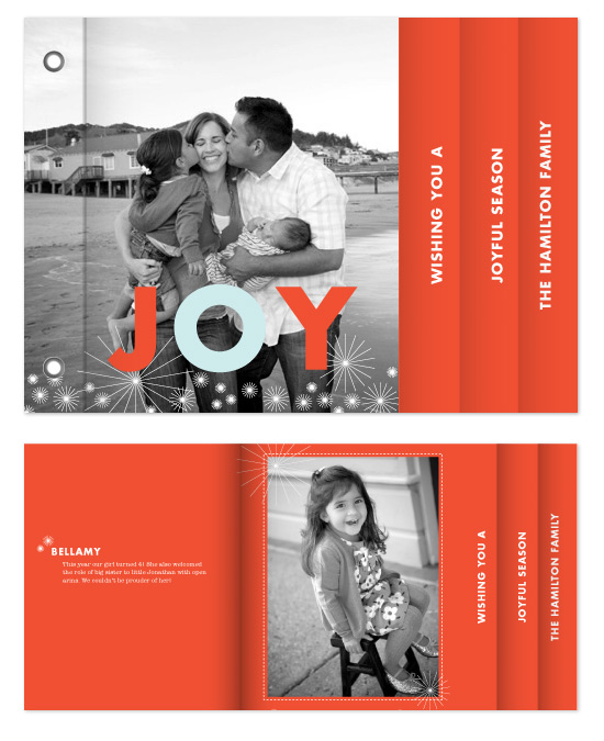 minibook cards - Joyful Season by Keely Reyes