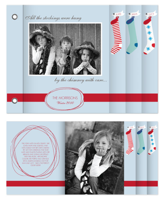 minibook cards - Christmas Stockings by Becca Thongkham