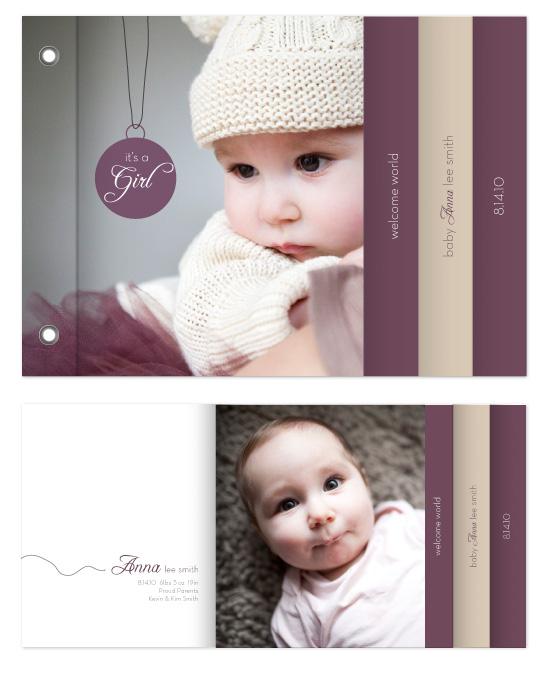 minibook cards - Modern Baby Charm by MelStudio
