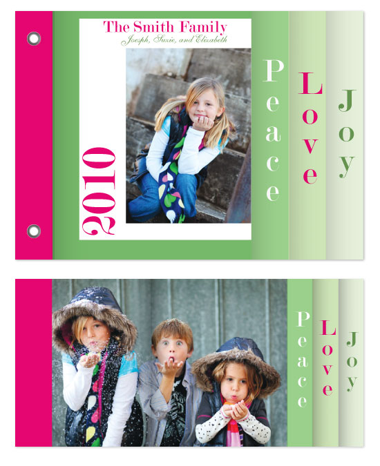 minibook cards - Peace, Love, Joy  II by Jennifer Stein of PS Designs Etc.