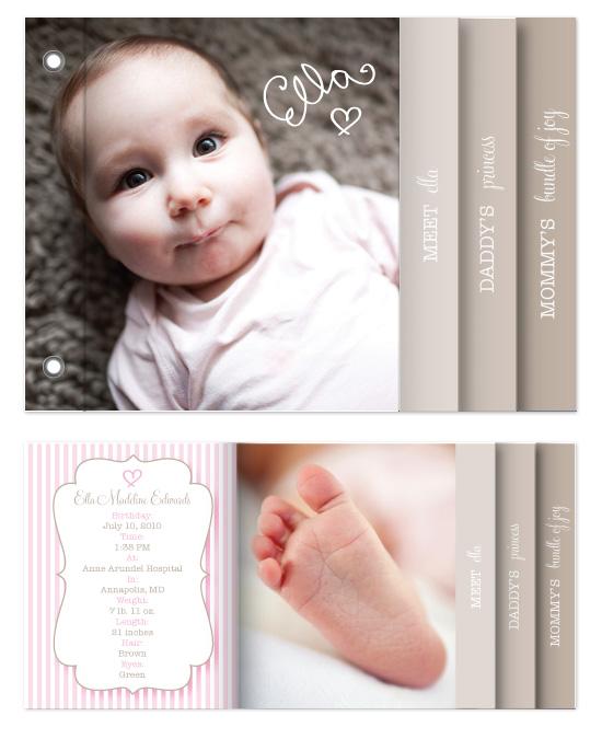 minibook cards - Little Princess by Bricolage Designs