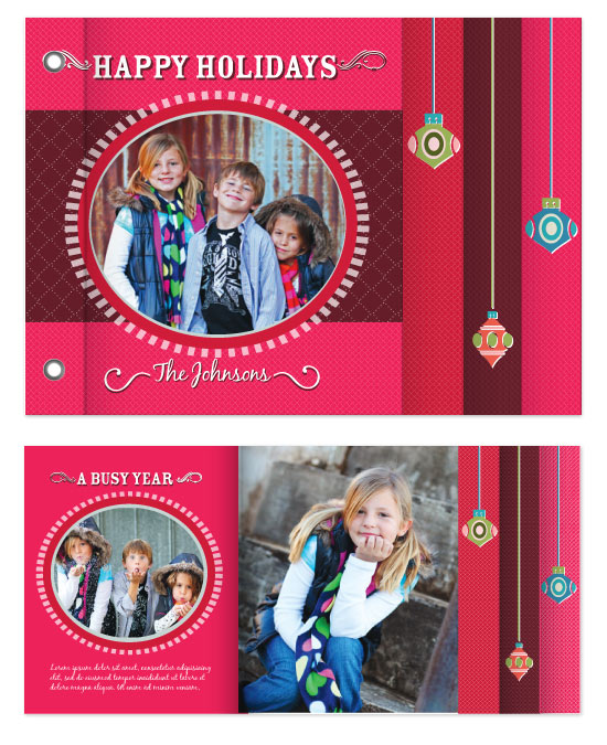 minibook cards - Whimsical Ornaments Holiday Cheer Minibook by Rachel Wiles/Benign Objects